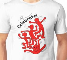 Celebrate! in Red Unisex T-Shirt