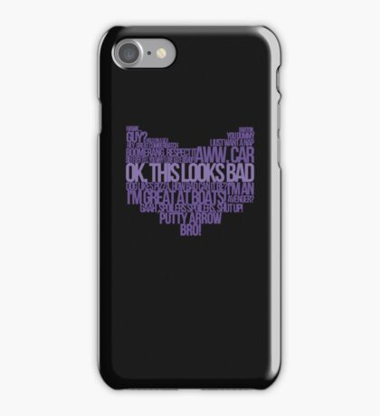 Hawkguy quotes iPhone Case/Skin