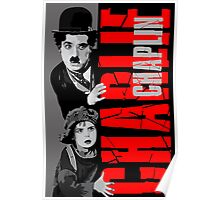 Charlie Chaplin with the kid sneak a peek Poster