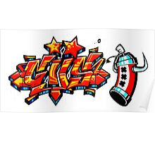 graffiti red spry Poster