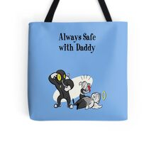 BioShock - Always Safe With Daddy Poster (Black) Tote Bag
