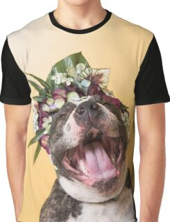 Flower Power, Luther laughing Graphic T-Shirt