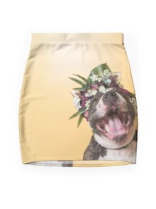 Flower Power, Luther laughing Mini Skirt