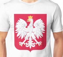 poland flag eagle emblem. Unisex T-Shirt