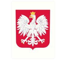 poland flag eagle emblem. Art Print