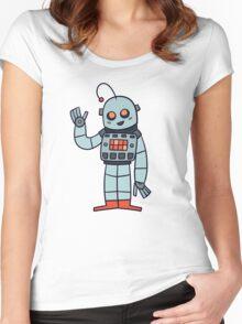 Happy Robot Women's Fitted Scoop T-Shirt