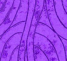 Line Art - The Curves, purple Sticker