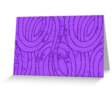 Line Art - The Curves, purple Greeting Card