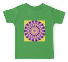 Bold Purple and Gold kaleidoscope Kids Tee