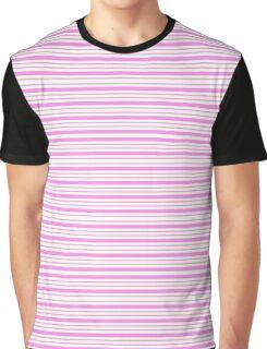Lindas Lineas Horizontales  color Rosa Graphic T-Shirt