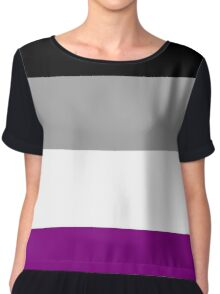 Asexual Flag Chiffon Top