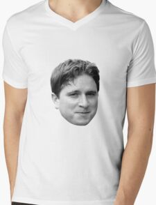 Kappa Face Mens V-Neck T-Shirt
