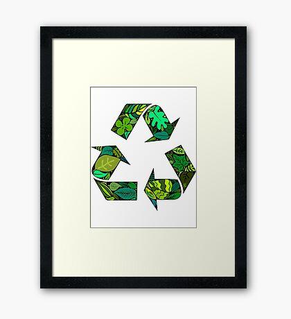 merge earth Framed Print