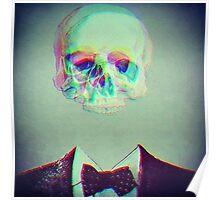 trippy skull face Poster
