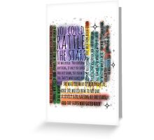 THRONE OF GLASS QUOTES Greeting Card