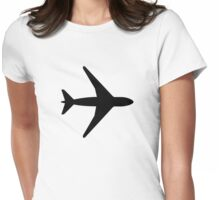 Airplane symbol Womens Fitted T-Shirt