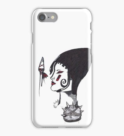 Warrior woman - sketch iPhone Case/Skin