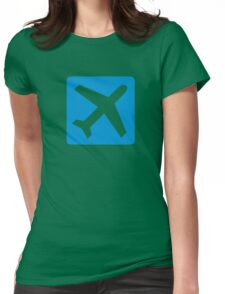 Blue airplane icon Womens Fitted T-Shirt