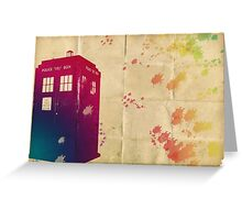 Doctor who - The Tardis in watercolours ... ALLONS-Y ! Greeting Card