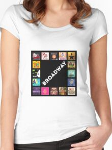 Broadway Collage Women's Fitted Scoop T-Shirt