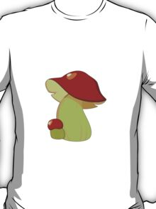 Vegetable - Mushrooms (Toadstool) - Red White T-Shirt