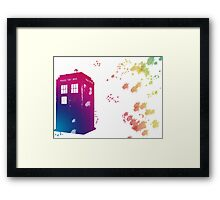 The Tardis in Watercolours ... Geronimo ! * laptop skins, and mugs added * Framed Print