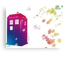 The Tardis in Watercolours ... Geronimo ! * laptop skins, and mugs added * Canvas Print