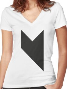 Music on  Women's Fitted V-Neck T-Shirt
