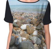 Ocean Stones Chiffon Top
