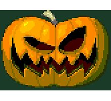 Pixel Pumpkin Photographic Print