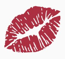 Kiss red lips by Designzz