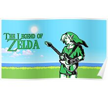 The Legend of Zelda - Guitar Link Poster