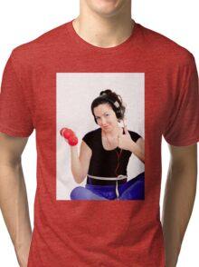 Sports, dumbbells, health Tri-blend T-Shirt