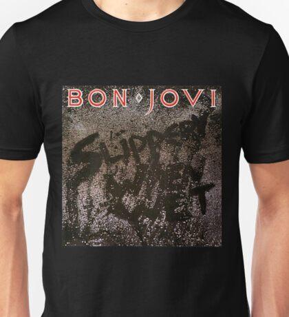 bon jovi slippery when wet album picture heru Unisex T-Shirt