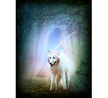 Jon Snow and Ghost - Game of thrones Photographic Print