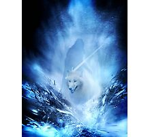 Jon Snow and Ghost - Game of thrones - Winter is here Photographic Print