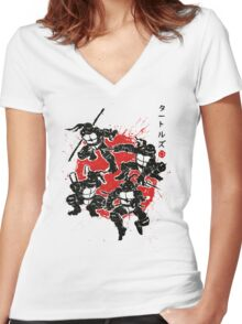 Mutant Warriors Women's Fitted V-Neck T-Shirt