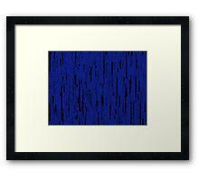 Line Art - The Bricks, black and dark blue Framed Print