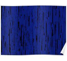 Line Art - The Bricks, black and dark blue Poster