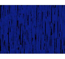 Line Art - The Bricks, black and dark blue Photographic Print