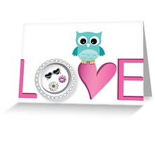 Love Owl with charm Greeting Card
