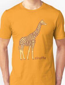 A stripy giraffe? No, it's a Ziraffe Unisex T-Shirt
