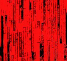 Line Art - The Bricks, black and red Sticker