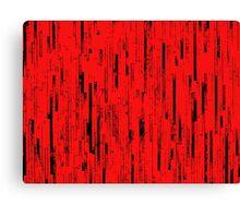 Line Art - The Bricks, black and red Canvas Print