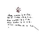 The Cake Is A Lie - Portal by FandomFrenzy