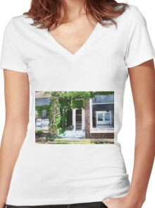 Once Upon a Time on Main Street Women's Fitted V-Neck T-Shirt