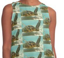 Sea Turtle Swimming Contrast Tank