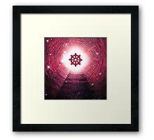 Buddhism (Wheel of Dharma) (Square) Framed Print