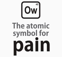 Atomic Symbol for Pain One Piece - Short Sleeve