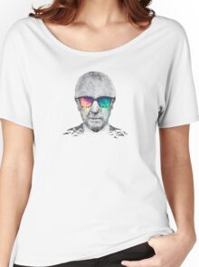 Albert Hofmann - Psychedelic Polygon Crystalised Portrait Women's Relaxed Fit T-Shirt